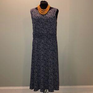 Jessica Howard Plus Size 20W Midi Navy Dress